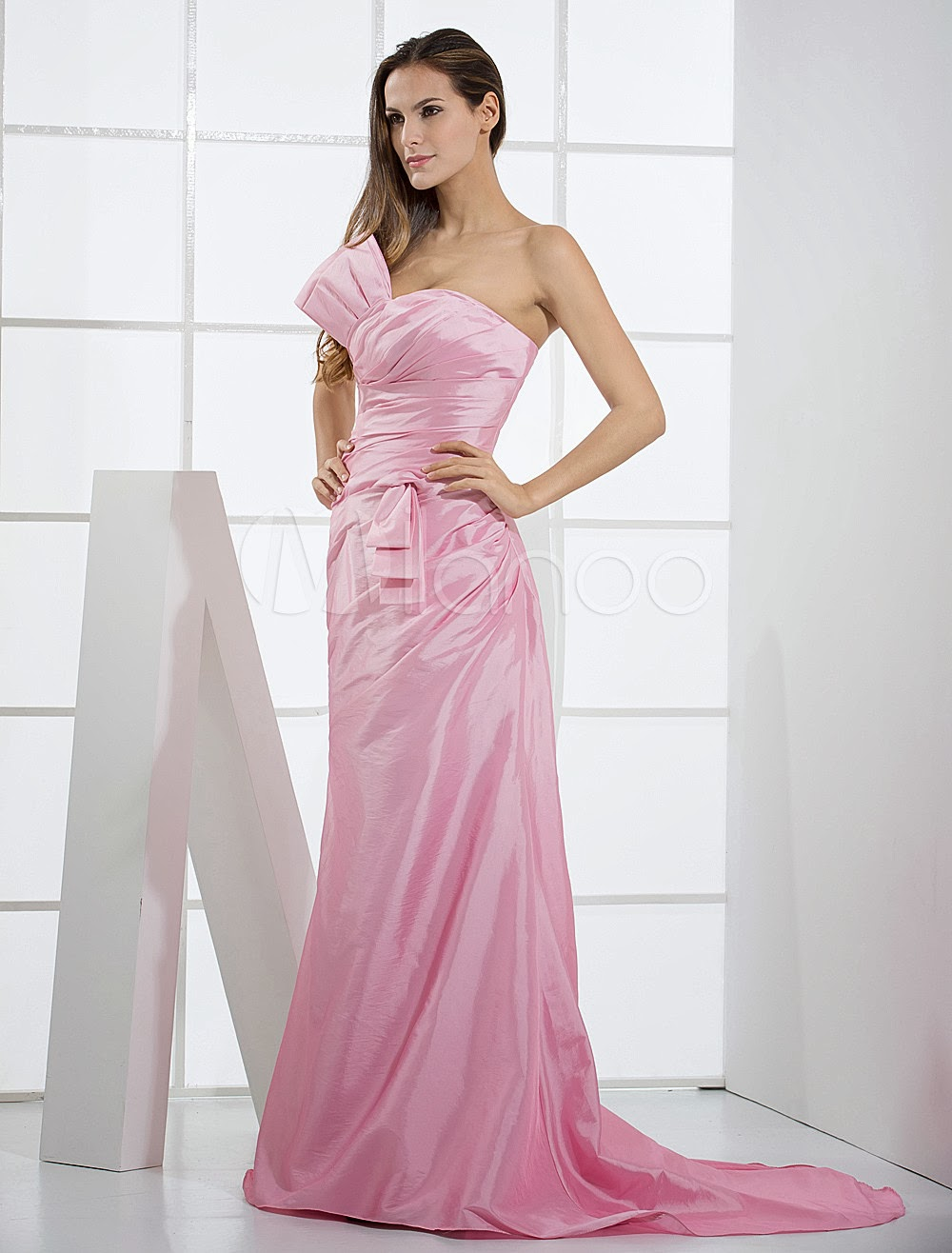 China Wholesale Dresses - Pink Taffeta Mermaid Trumpet Ladies Special Occasion Dress