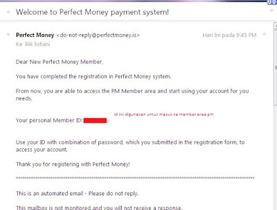 Cara Daftar Perfect Money