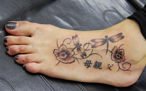 Mẫu hình xăm nhỏ đẹp ở chân cho nữ
