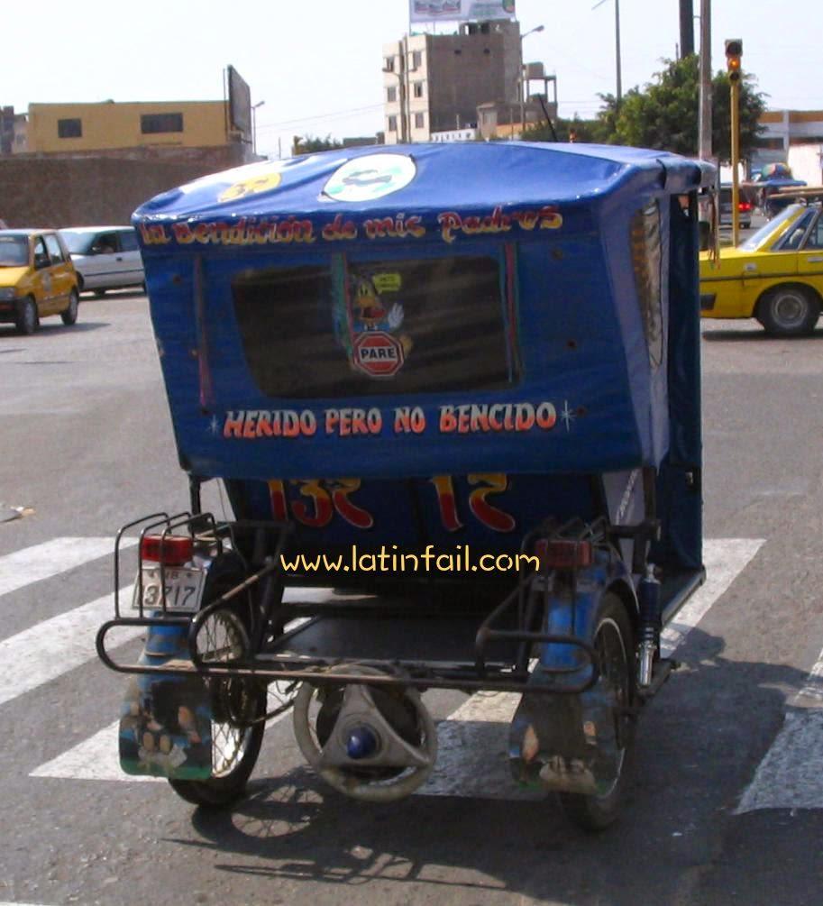 """HUMOR FRASES DE MOTOTAXI - HERIDO PERONO NO """"BENCIDO"""""""