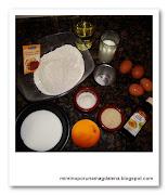 ingredientes magdalenas, coco, almendra y naranja