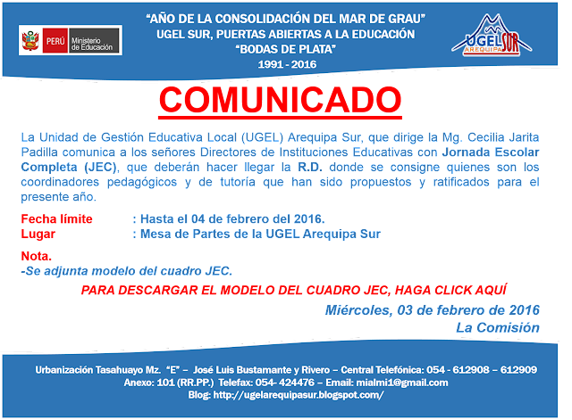COMISIÓN DE CONTRATO DOCENTE 2016