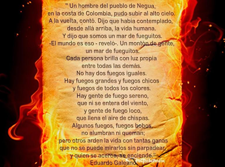 El Mundo | El libro de los abrazos |E. Galeano | papel, fuego