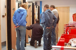 Students training in locksmithing at the emergency locksmiths Keytek Locksmith Training Academy