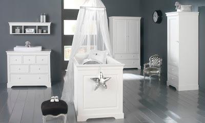 habitación bebé gris