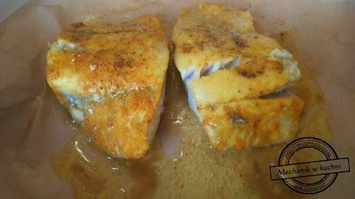 Dorsz na słodkiej kaszance z sosem z ogórka Okrasa Lidla kuchnia mechanik w kuchni