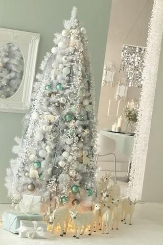 D coration 100 zen mon beau sapin for Idee deco sapin noel blanc argent