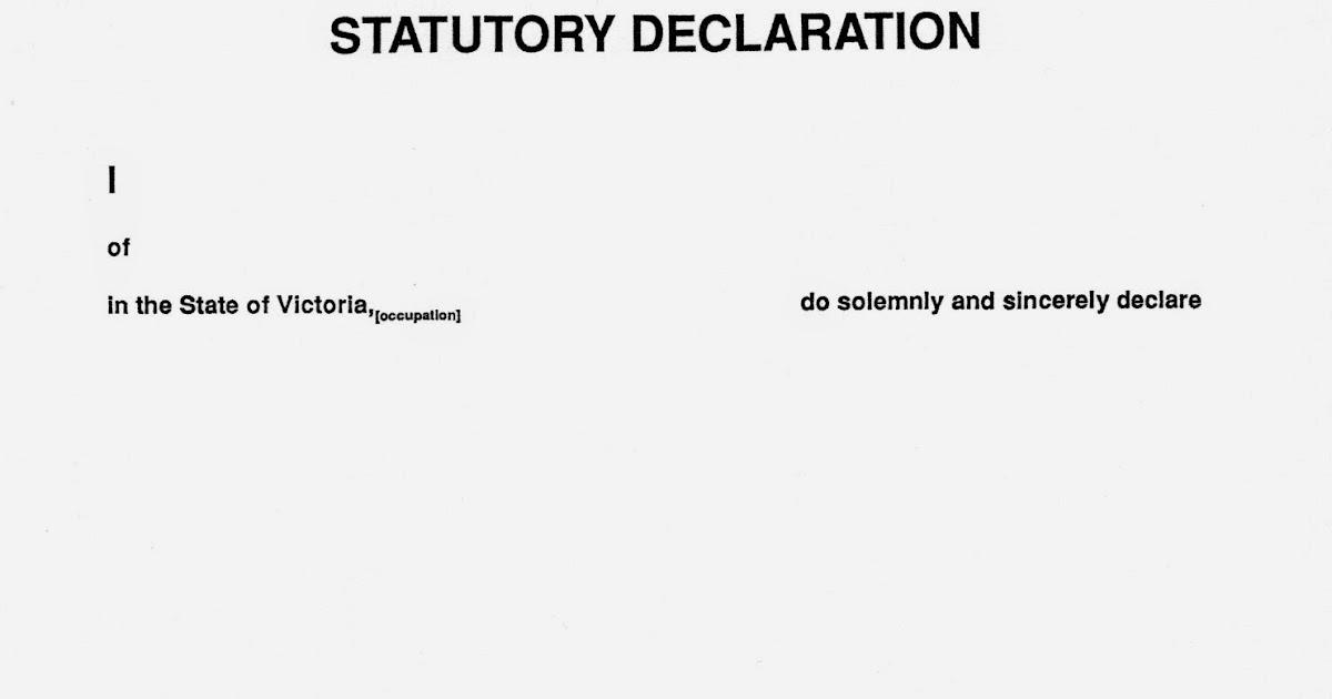 Corporate australia statutory declaration altavistaventures Choice Image