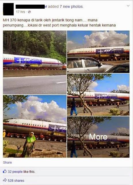 Gambar Badan Pesawat MAS Dikaitkan Dengan MH370 Jadi Viral