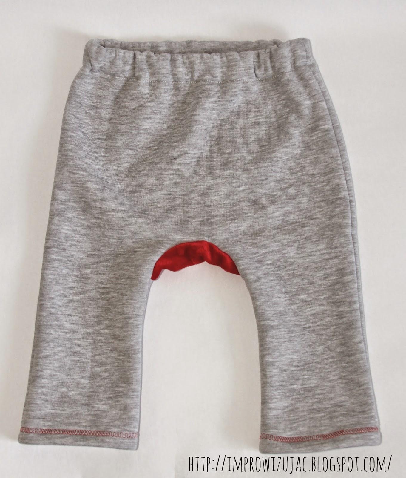 spodnie z łatą