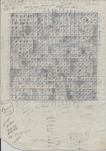 Lynn Also Mentions Her One Crossword Construction Many Years Ago Which Was Titled Fit To Print And Contained Newspaper Puns Heres A Photo