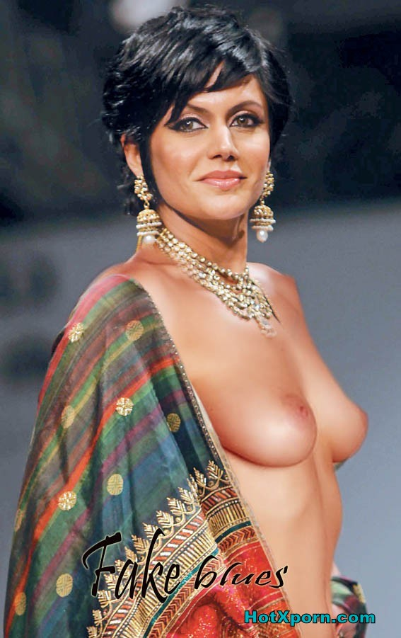 Nude Hot Indian Actress Mandira Bedi Nude Catwalk Showing Boobs At Ramp Fake