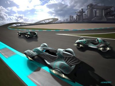 the basic concept of the touch effect makes use of these developments based on the rental of racing cars for private persons on specially designed tracks - Sports Cars 2030