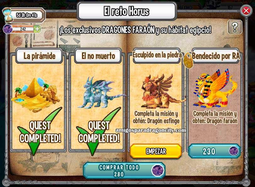 imagen de la tercera mision de la isla egipcia el reto de deus de dragon city