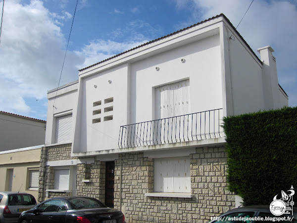 Royan -Villa  Architecte: H. M. Rohard  Projet / Construction: 1955-1959