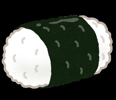 俵型のおにぎりのイラスト