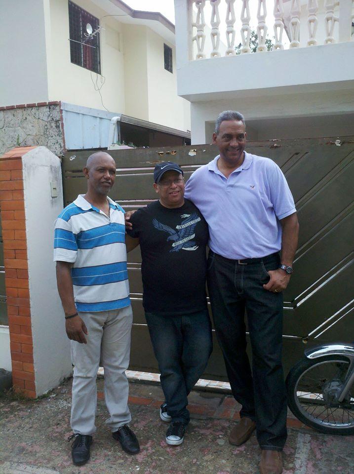 Luis, David y yo.