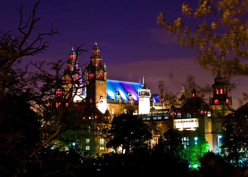 Kelvingrove Art Gallery & Museum at night