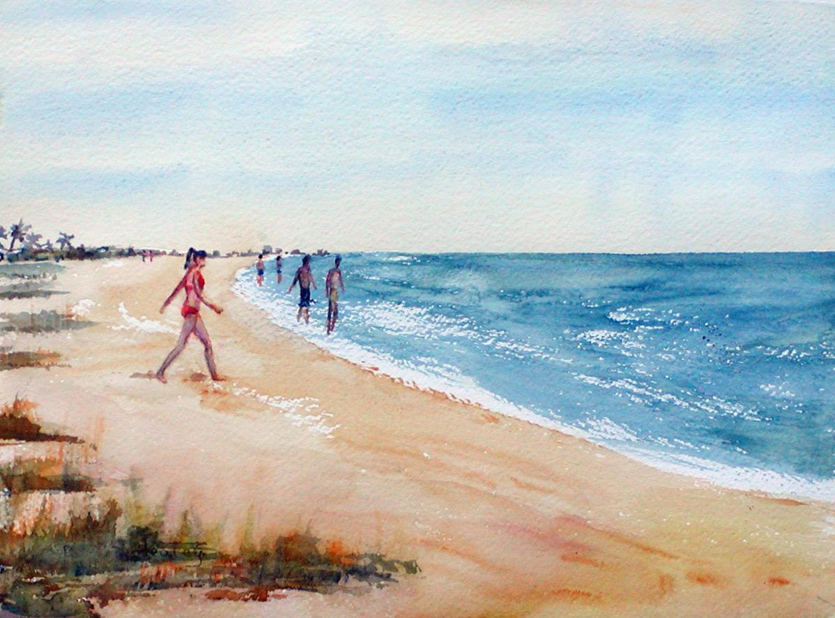 pauline s art sandy beach