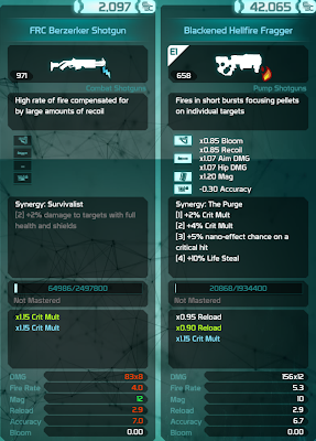Defiance - Weapon Stats 01