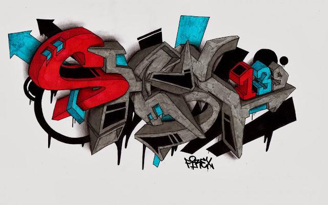 Hermosos Graffitis en 3D