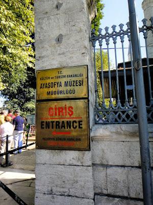 Entrance to Hagia Sophia Museum in Istanbul Turkey