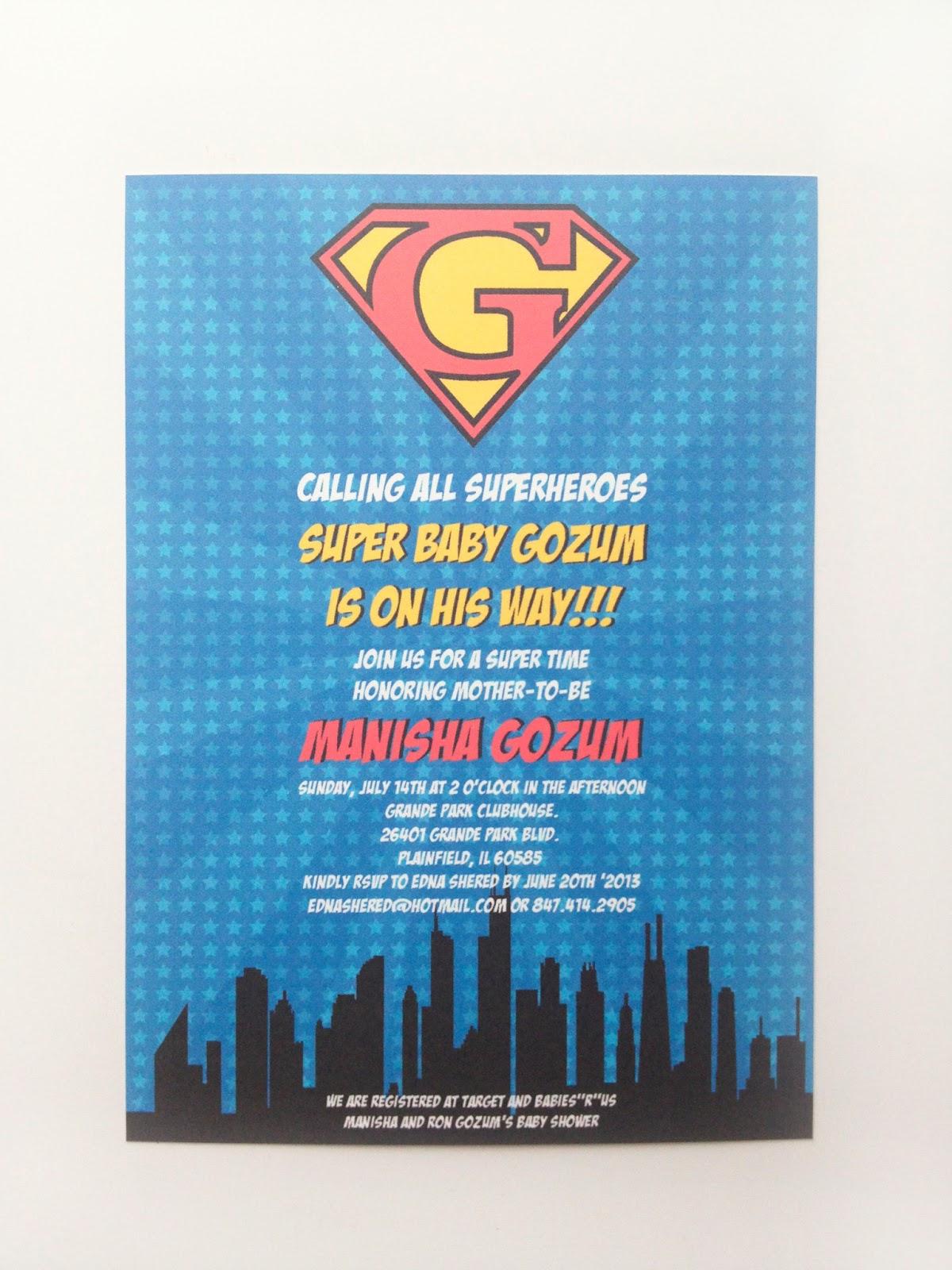 superhero baby invitations custom design super baby g