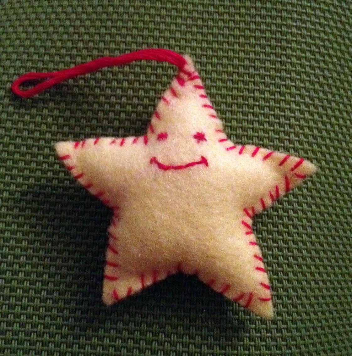 Estrellas de fieltro Navidad