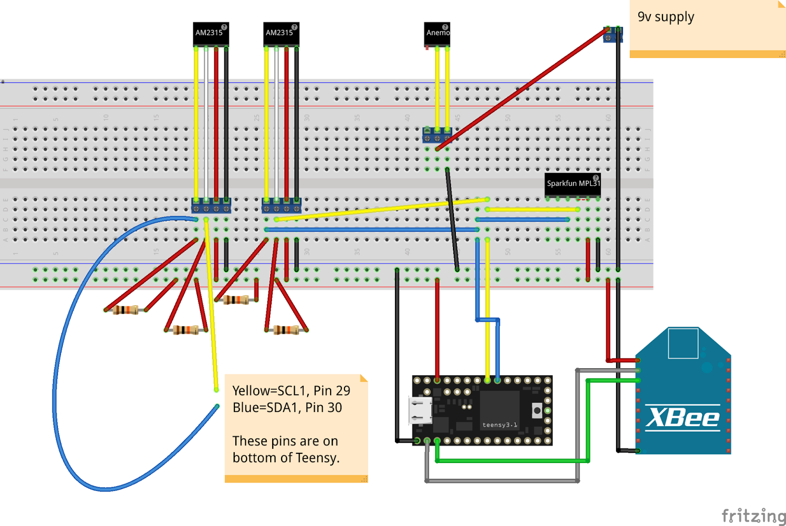 Smart Space Stuff: Greenhouse Phase 5: XBee On Sensor Board