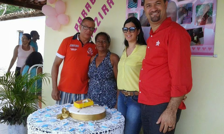 PREFEITO OSNI CARDOSO E ESPOSA,ACOMPANHADOS DO VEREADOR LAILSON CUNHA(DIREITA)