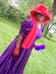 Victorian Red Hat Lady
