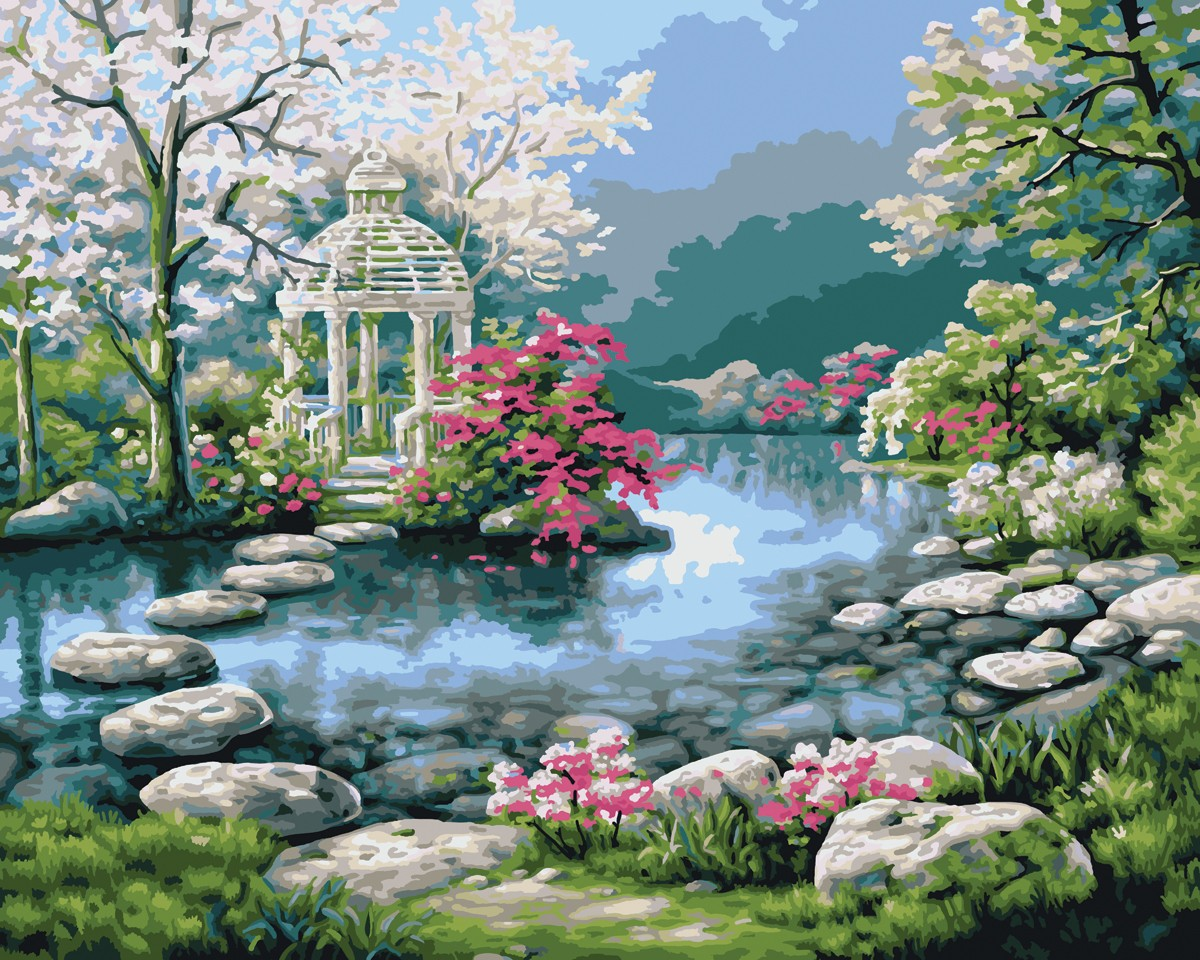 Japanese Garden Painting Love your place: peaceful japanese gardens