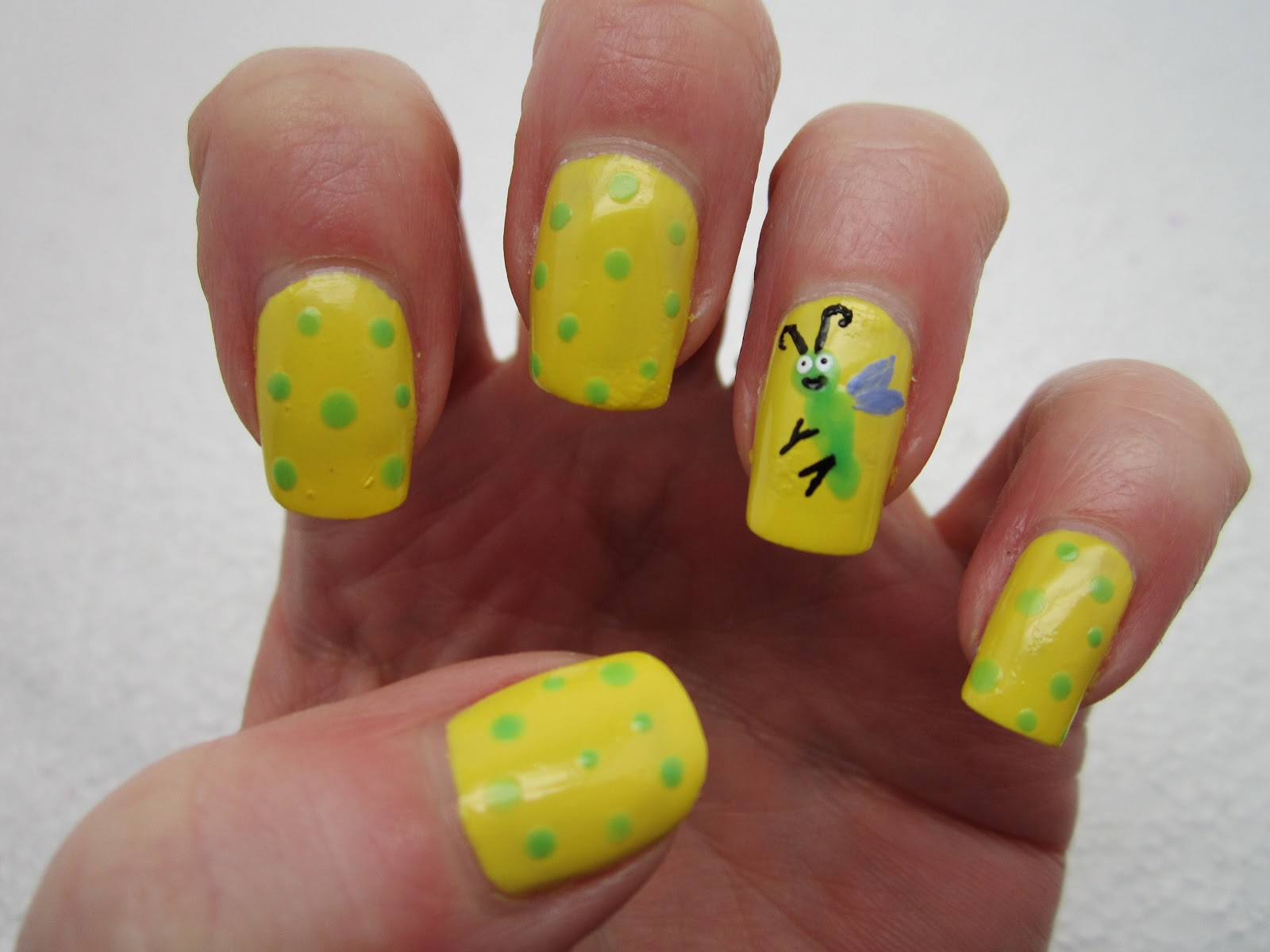 Creative Nail Design By Sue Spring Challenge Bugsghtning