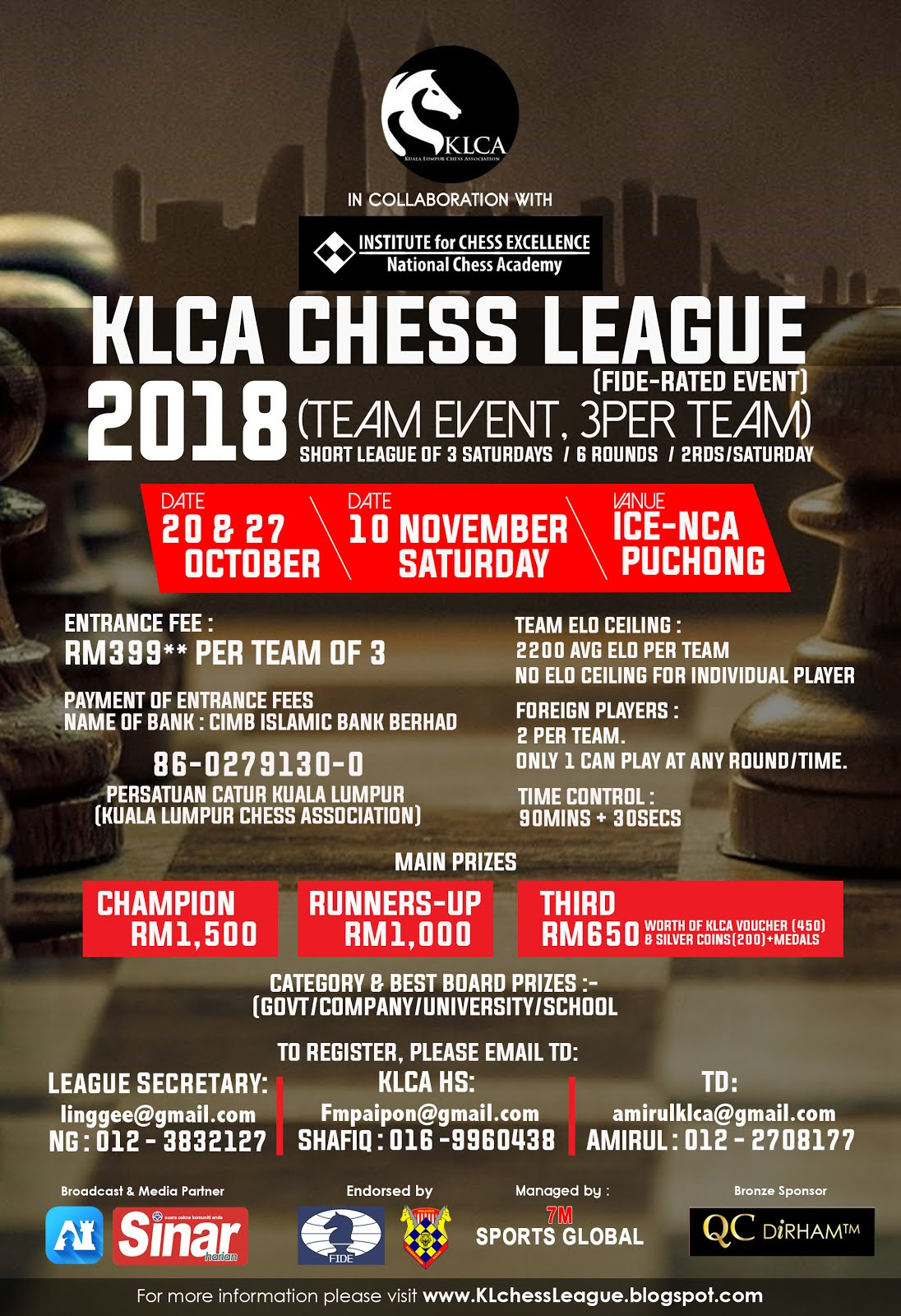 2018 KLCA CHESS LEAGUE