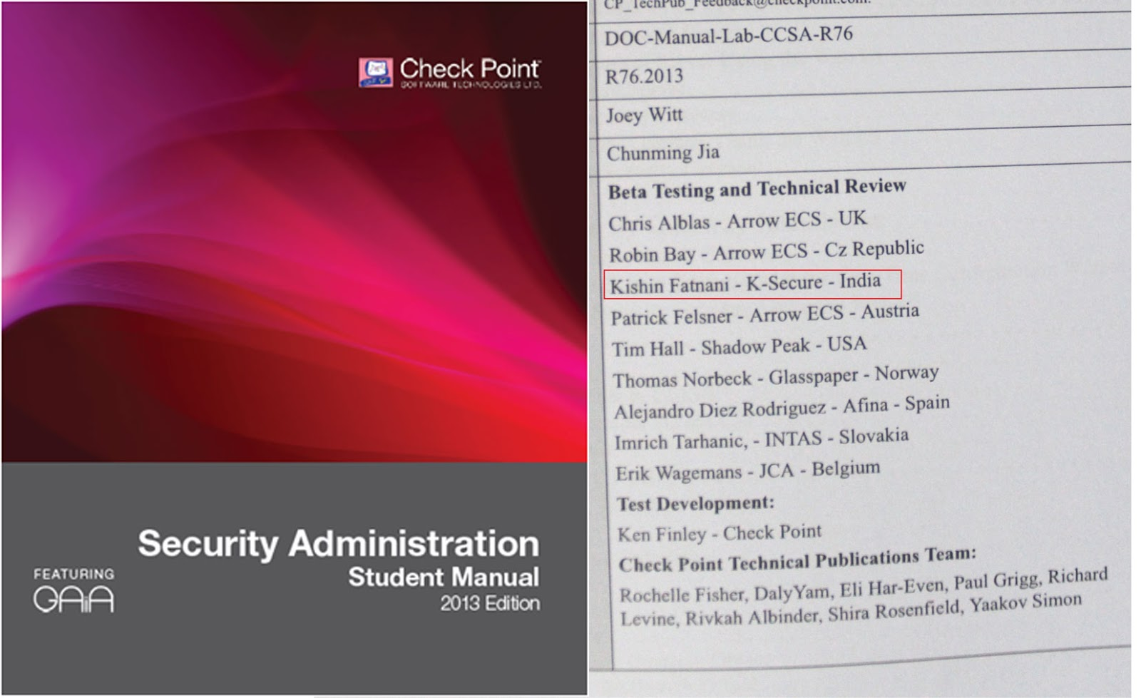 Kishin fatnanis it security blog contributions to the latest ccsa and ccse 2013 courseware 1betcityfo Gallery