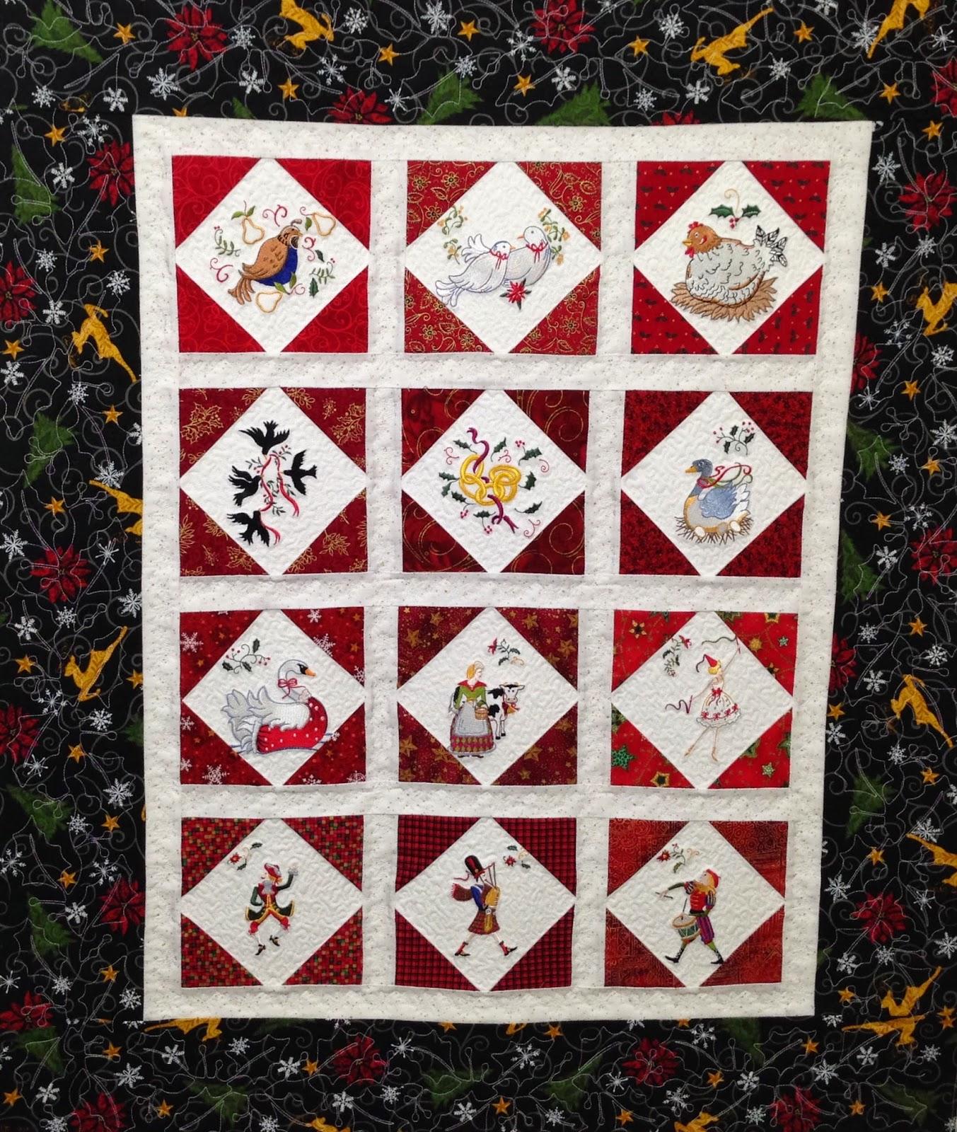 Cheryl Vastola's 12 Days of Christmas Quilt