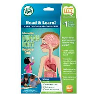 Tessa is quite fond of her Leapfrog Tag Reading System, so when I saw Leapfrog came out with this human body discovery pack, I just had to buy and incorporate it into our studies.
