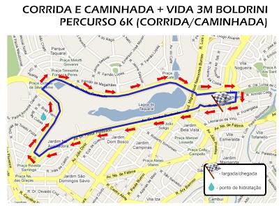Percurso Corrida Boldrini