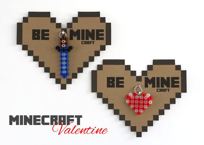 Make Minecraft Valentines Free Printable