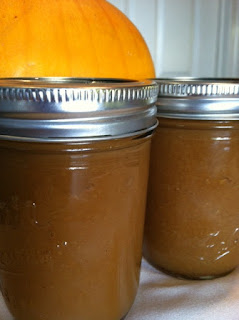 pumpkin in canning jars