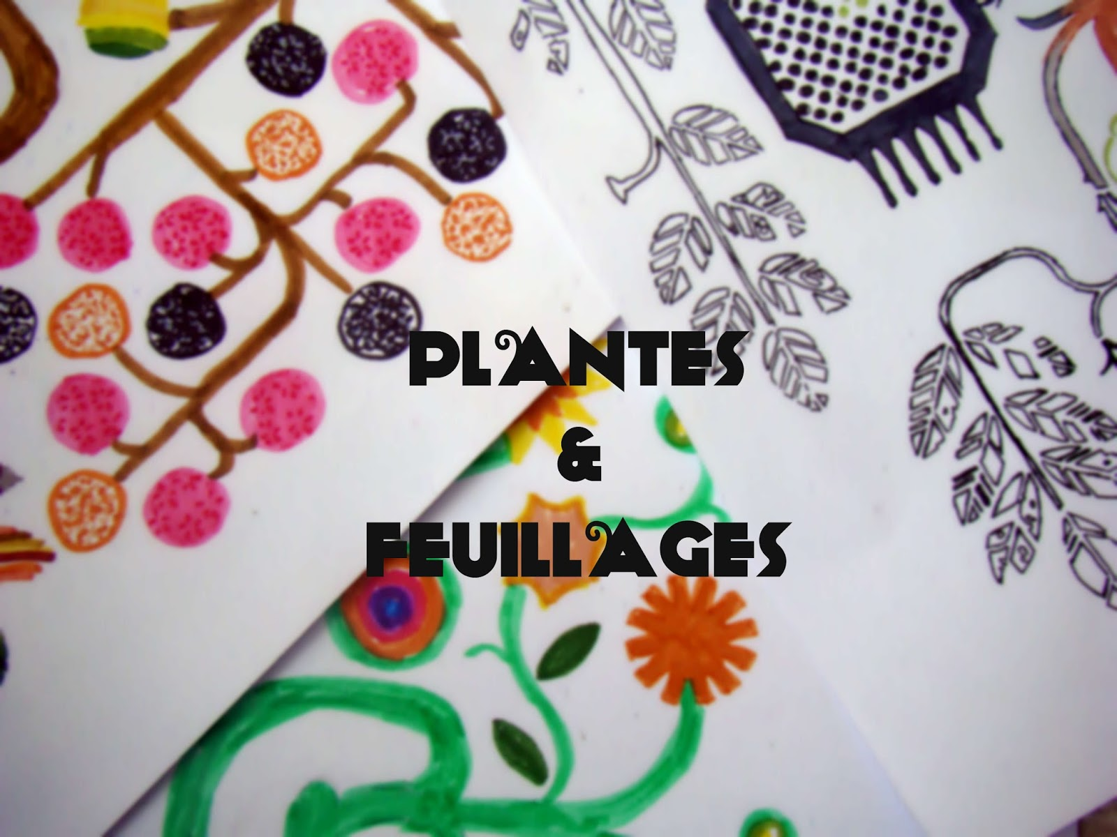 Draw on Monday... Plantes et Feuillages