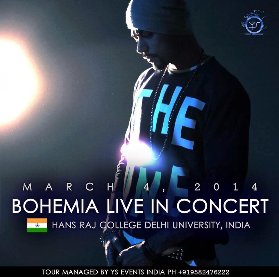 BOHEMIA LIVE IN INDIA - MARCH 4 2014