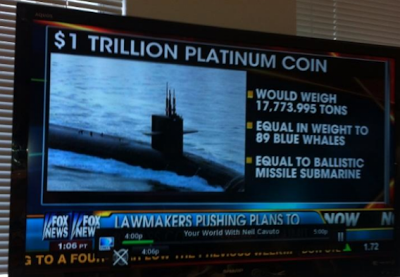 Fox News is clueless about what the $1 Trillion Platinum Coin really is