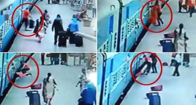 Wanita hancur digilis kereta api kerana terjatuh ketika turun