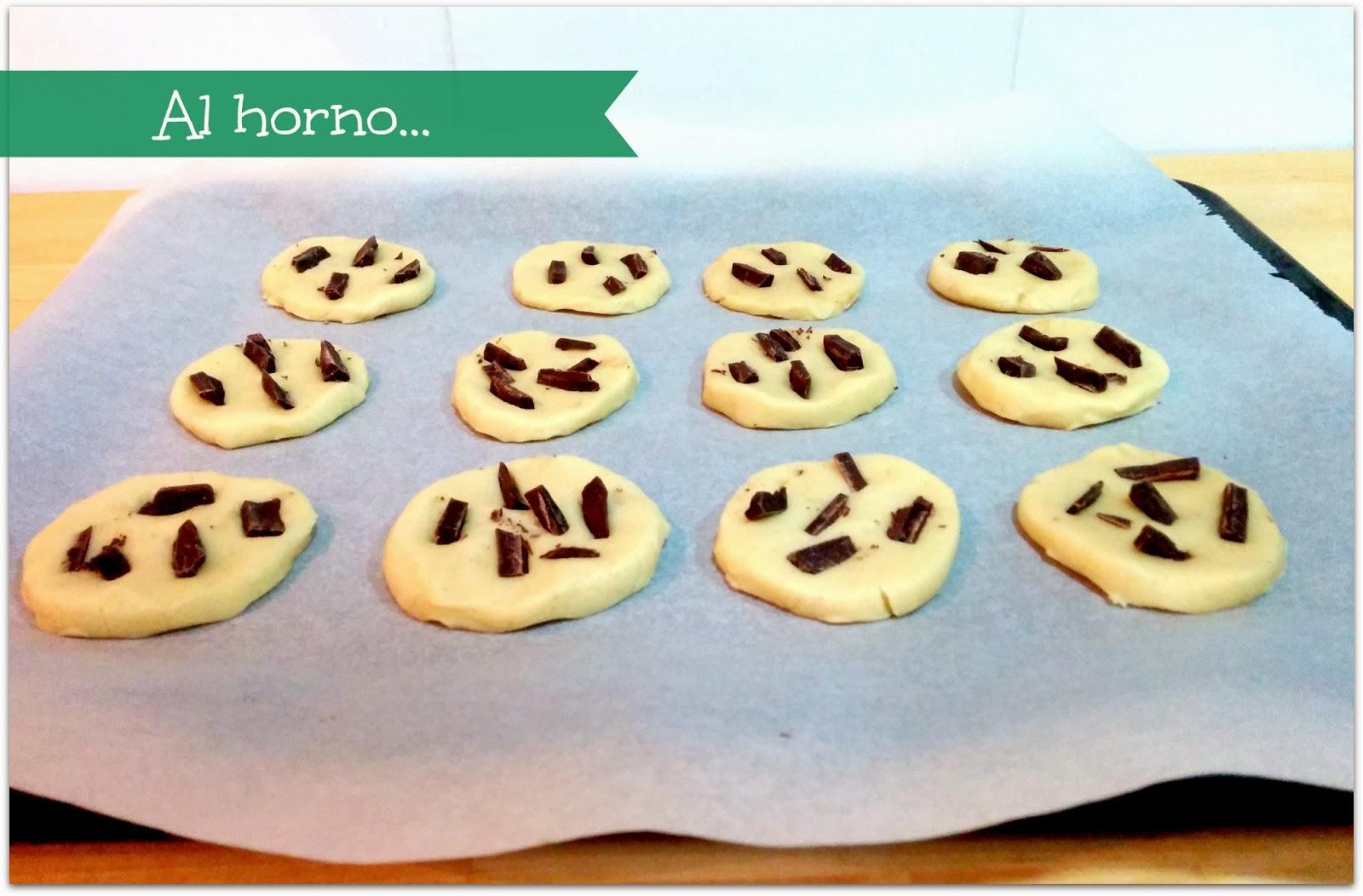 cookies vainilla y chocolate antes de hornear