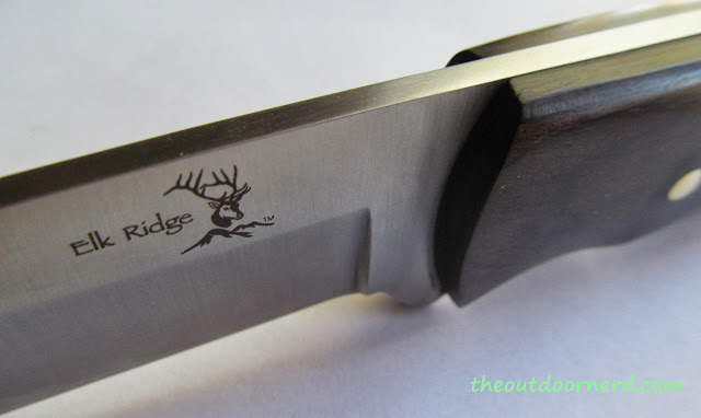 Elk Ridge Er-196 Fixed Blade Knife - Closeup Of Logo