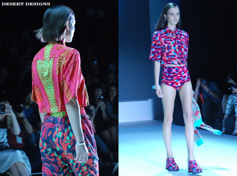 MBFWA, New Generation, Desert Designs, SS 2013/14, runway, Aboriginal Art, prints