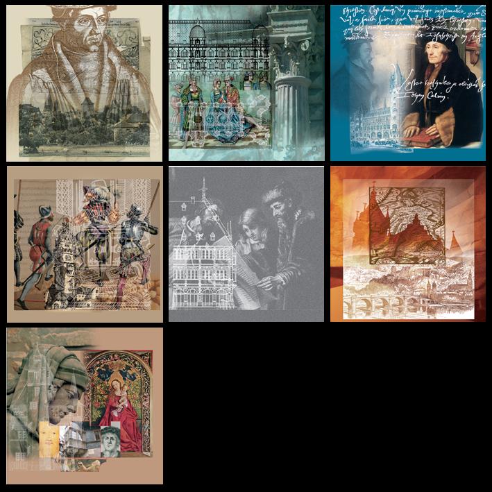 Création de tableaux pour l'exposition Rhenania - Villa-Rhéna/Sanofi