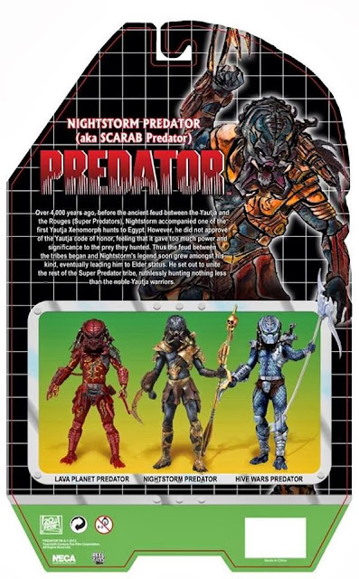NECA Predator Series 10 Nightstorm Predator Card Back Packaging