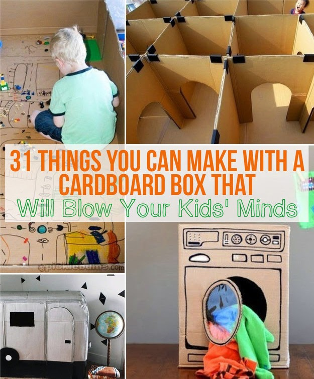 31 things you can make with a cardboard box that will blow for Cool things to make with paper for your room
